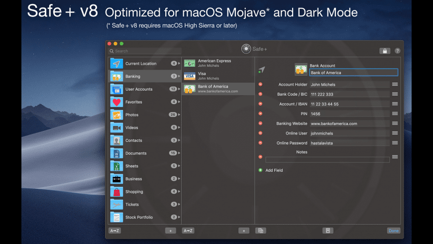 Safe + for Mac - review, screenshots