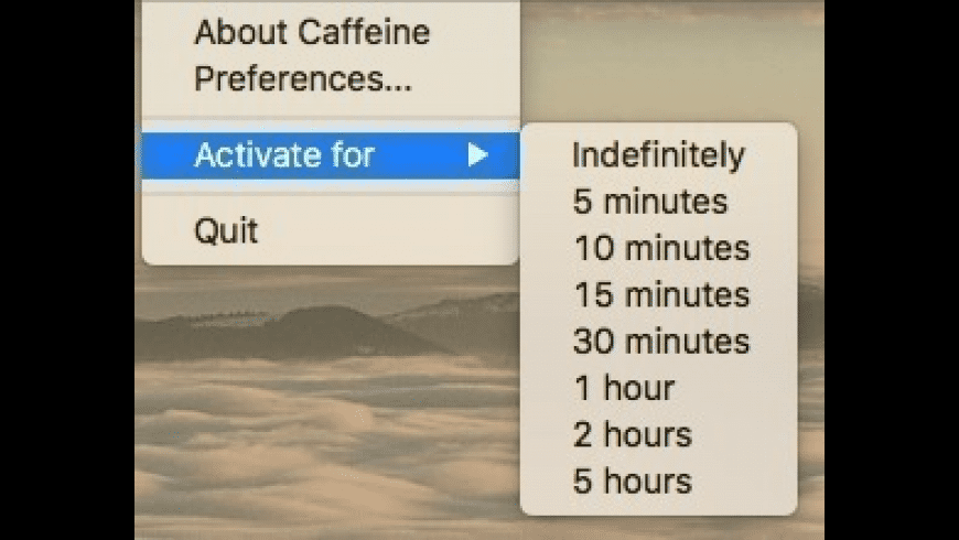 Caffeine for Mac - review, screenshots
