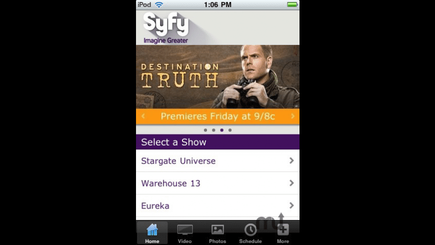 Syfy for Mac - review, screenshots