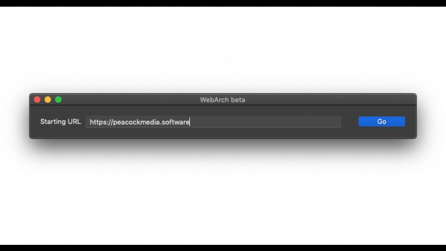 WebArch for Mac - review, screenshots