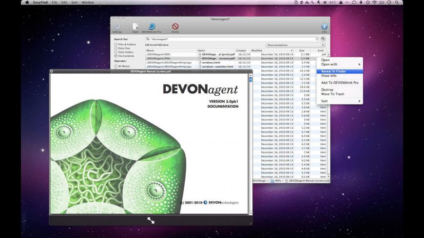 EasyFind for Mac - review, screenshots