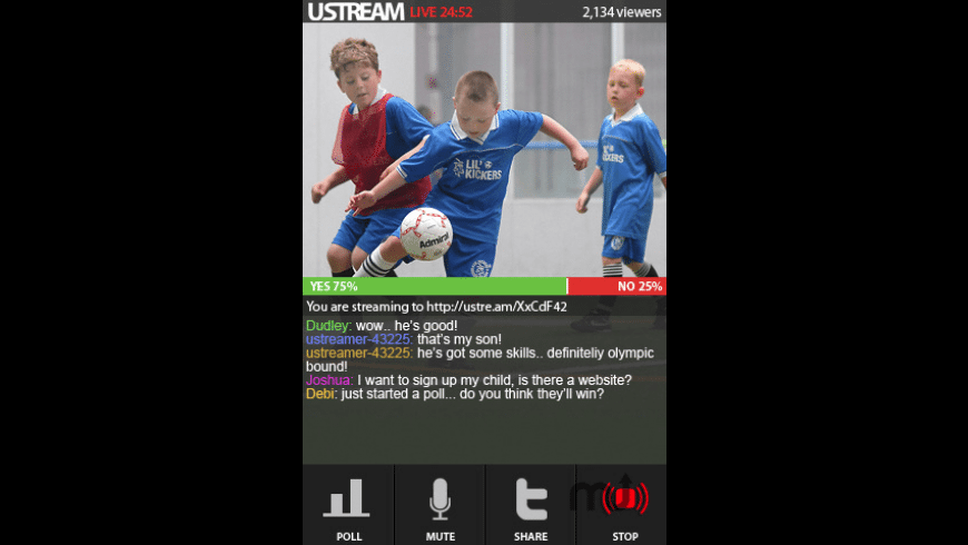 Ustream Live Broadcaster for Mac - review, screenshots