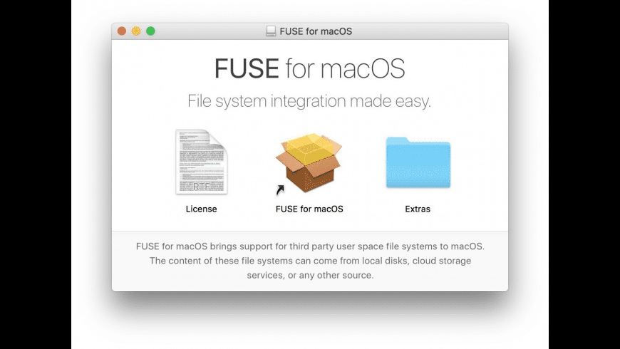 FUSE for macOS for Mac - review, screenshots