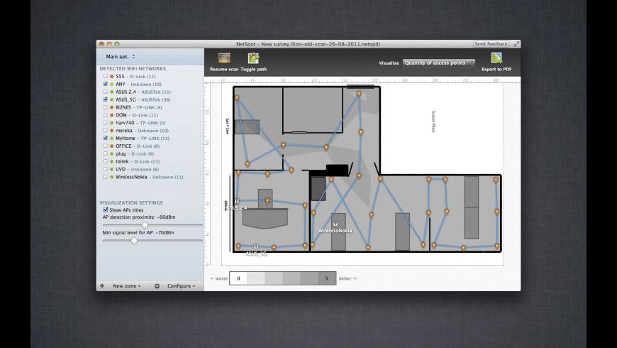 NetSpot Pro Mac 破解版 WiFi检测分析工具-麦氪派