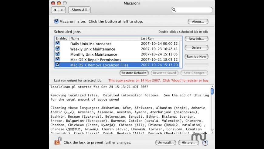 Macaroni for Mac - review, screenshots