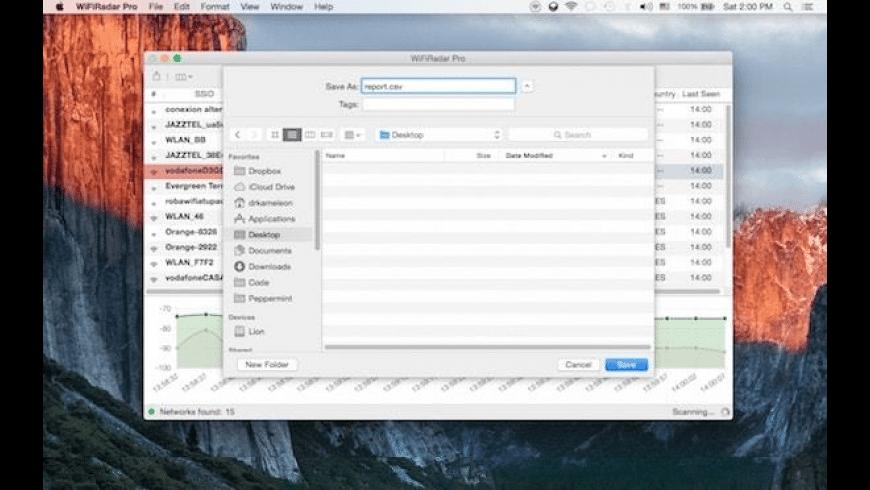 WiFi Radar Pro for Mac - review, screenshots