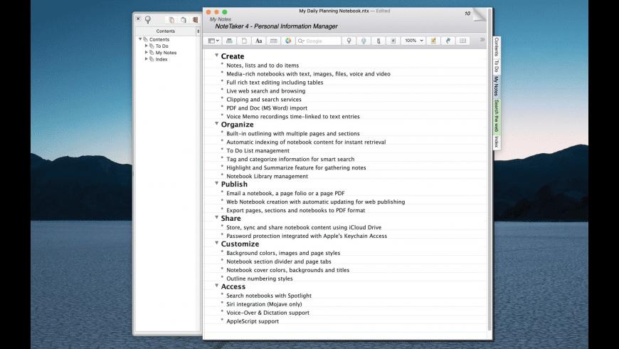 NoteTaker for Mac - review, screenshots