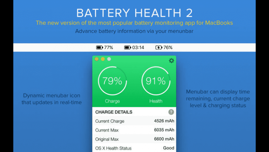 Battery Health 2 for Mac - review, screenshots