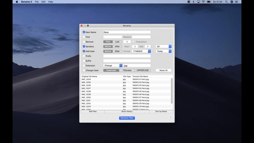 Rename X for Mac - review, screenshots