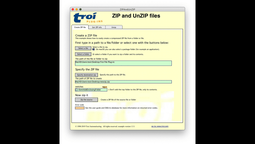 Troi File Plug-in for Mac - review, screenshots