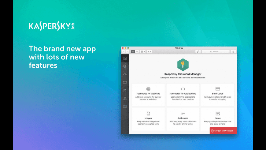 Kaspersky Password Manager for Mac - review, screenshots