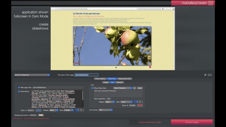 maGalleryCreator for Mac - review, screenshots