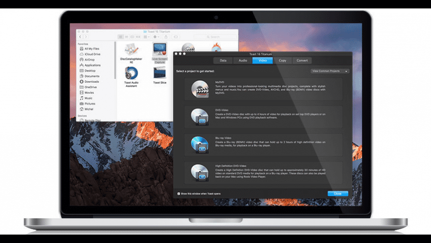 Toast Titanium for Mac - review, screenshots