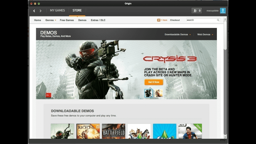Origin for Mac - review, screenshots