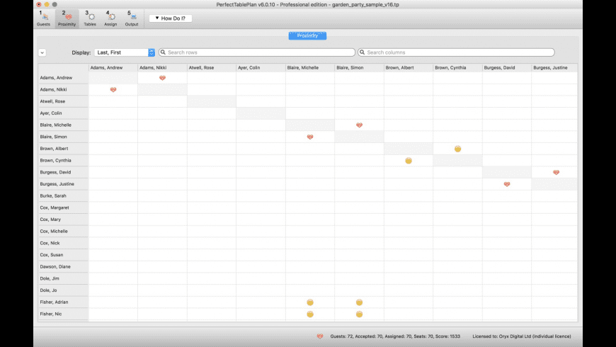 PerfectTablePlan for Mac - review, screenshots