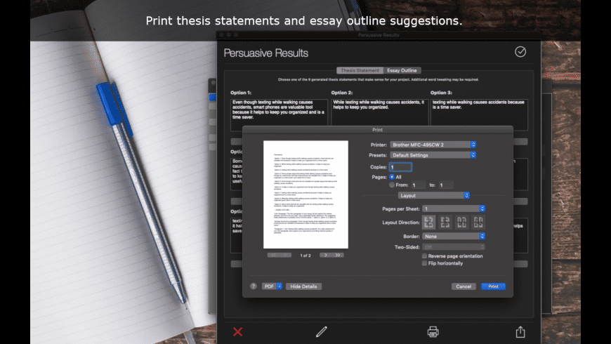 Thesis Generator for Mac - review, screenshots