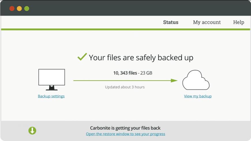 Carbonite for Mac - review, screenshots