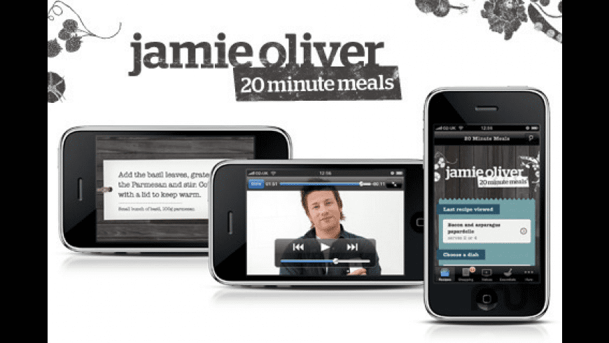 20 Minute Meals - Jamie Oliver for Mac - review, screenshots