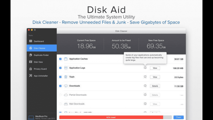 Disk Aid for Mac - review, screenshots