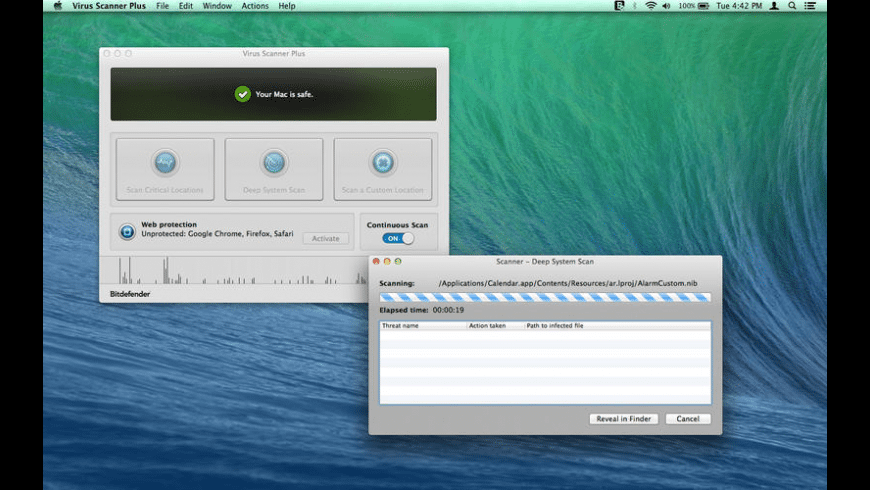 Virus Scanner Plus for Mac - review, screenshots