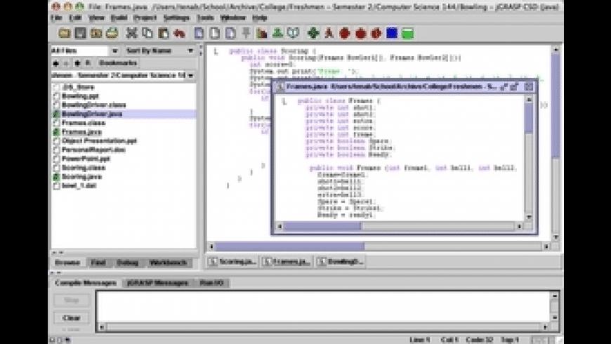 jGRASP for Mac - review, screenshots