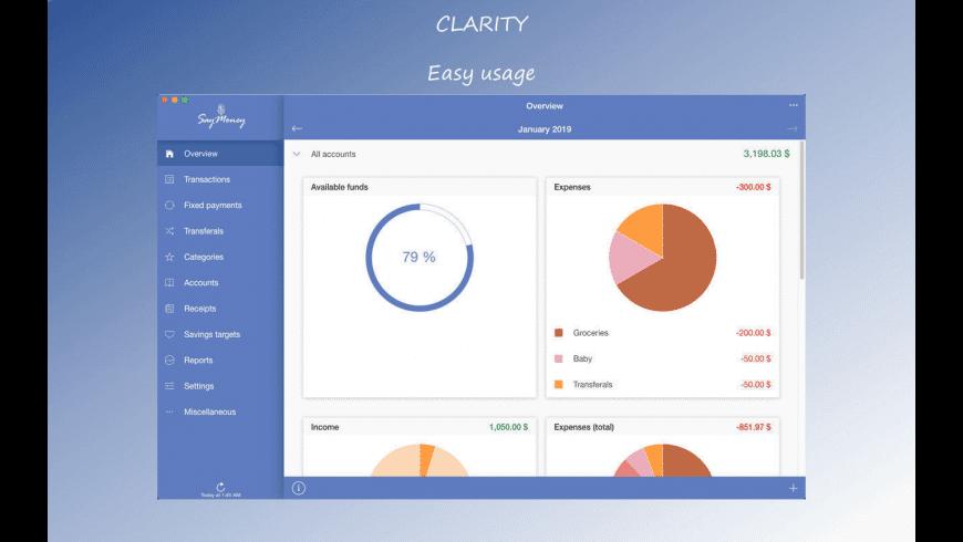 SayMoney for Mac - review, screenshots