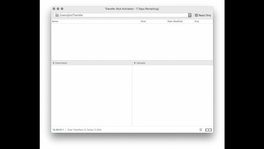 Transfer for Mac - review, screenshots