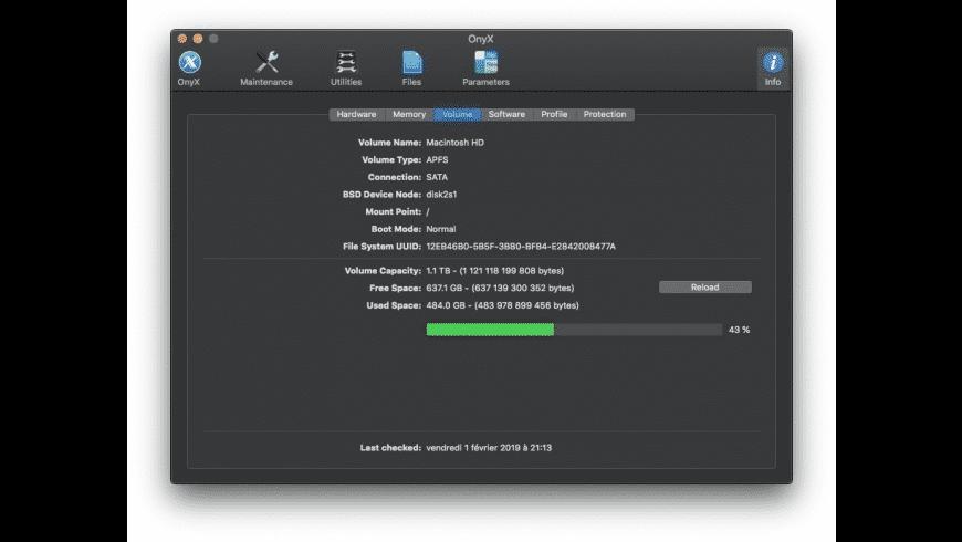 OnyX for Mac - review, screenshots