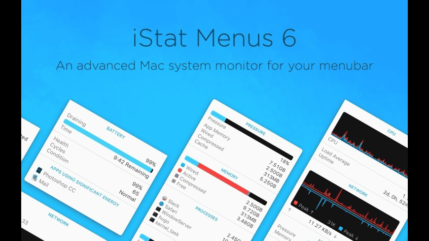 iStat Menus for Mac - review, screenshots
