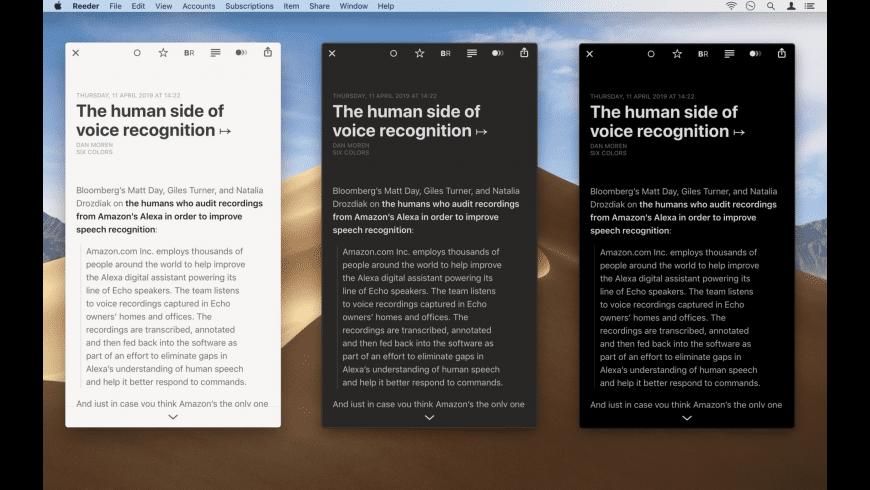 Reeder for Mac - review, screenshots