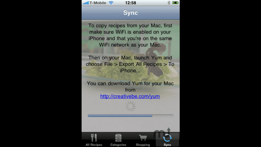 Yum for iPhone for Mac - review, screenshots