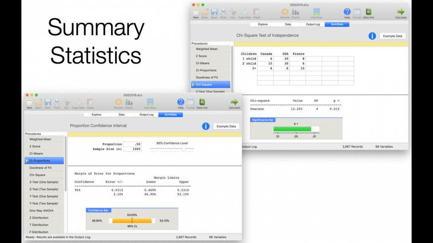 AcaStat for Mac - review, screenshots