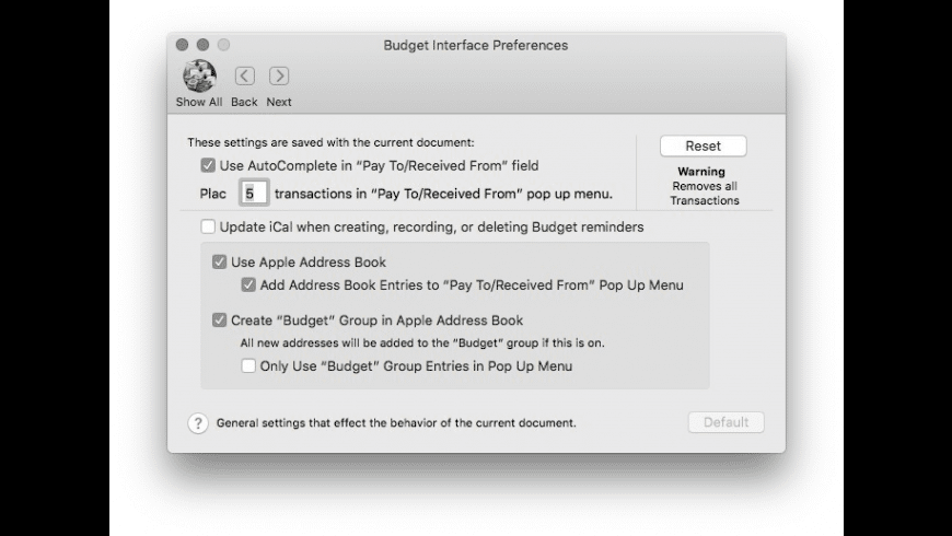 Budget for Mac - review, screenshots