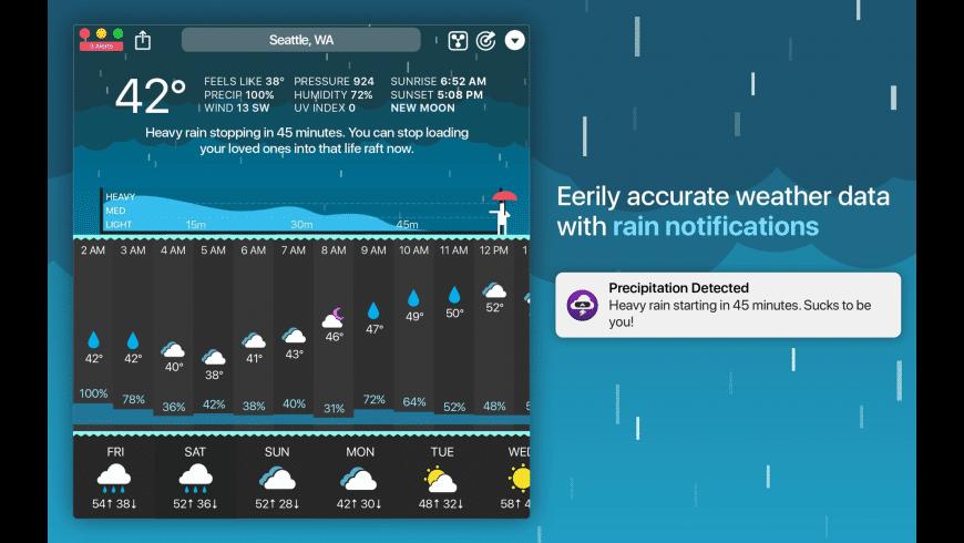 CARROT Weather for Mac - review, screenshots