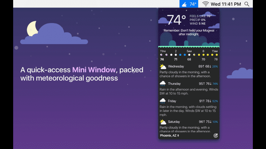 CARROT Weather for Mac - review, screenshots