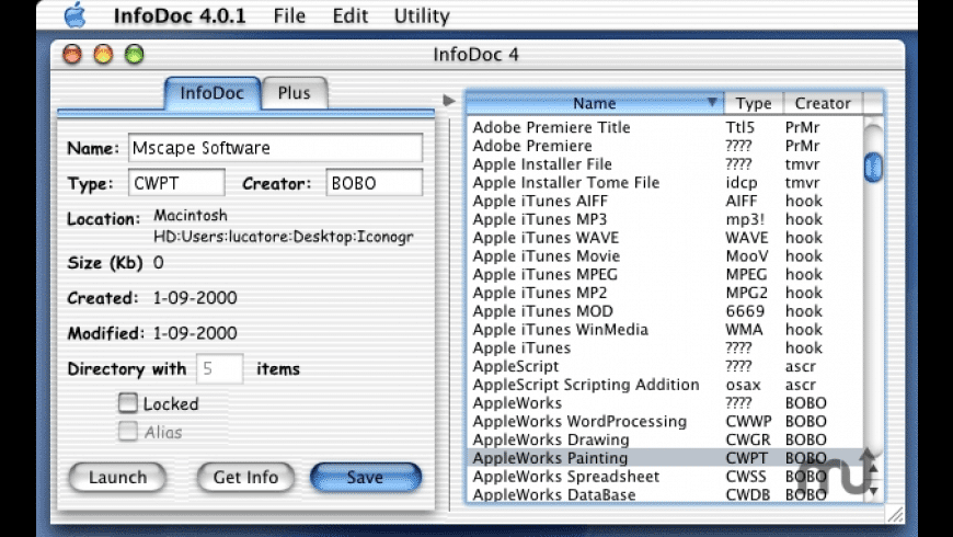 InfoDoc for Mac - review, screenshots