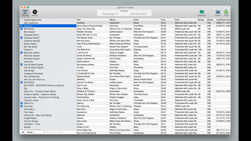 Export for iTunes for Mac - review, screenshots