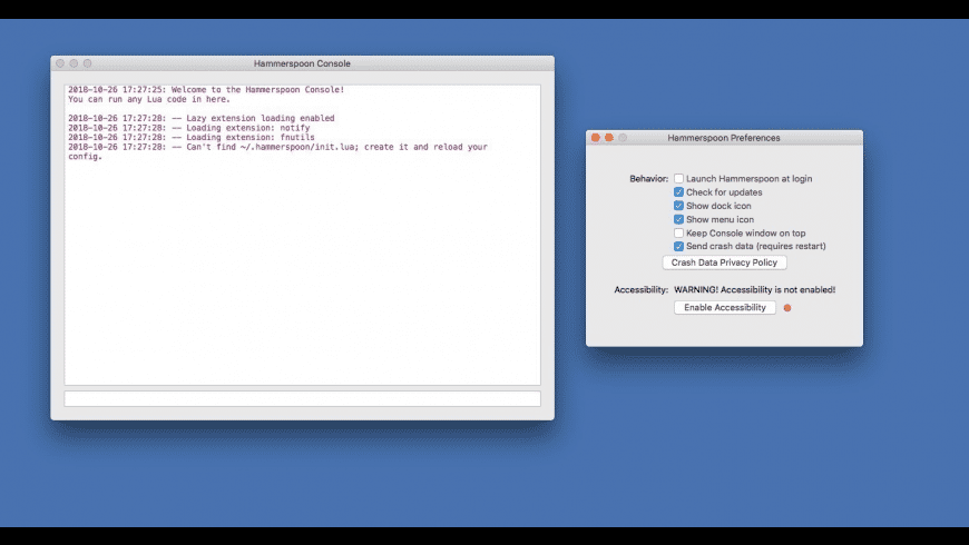 Hammerspoon for Mac - review, screenshots