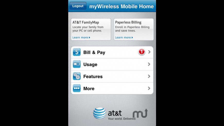 AT&T myWireless Mobile for Mac - review, screenshots