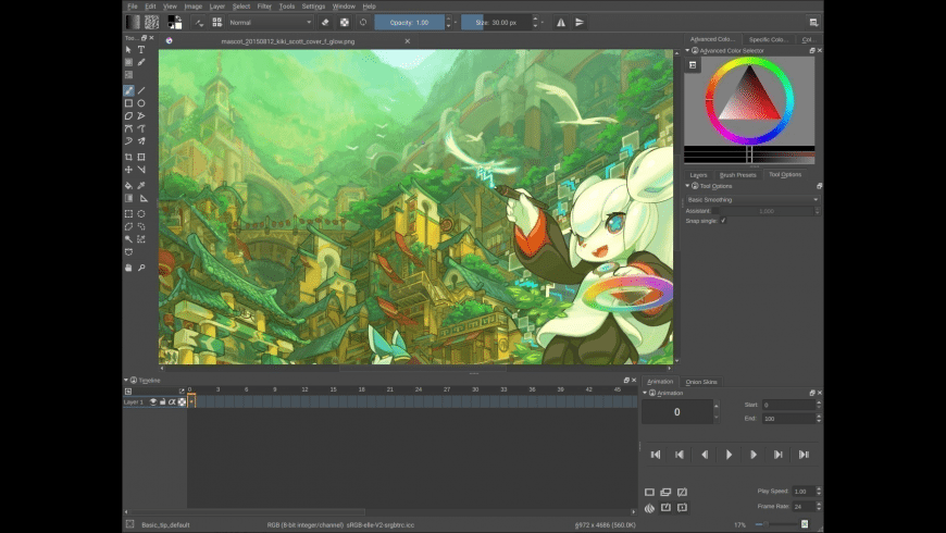 Krita for Mac - review, screenshots