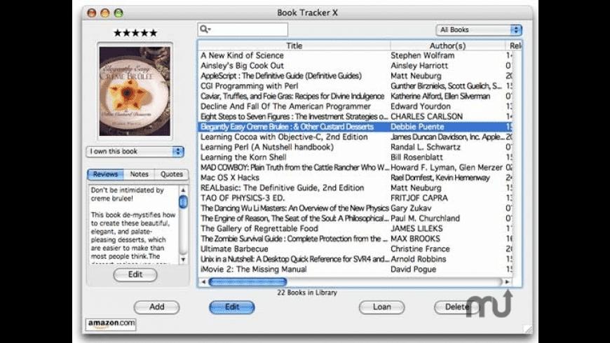 Book Database X for Mac - review, screenshots