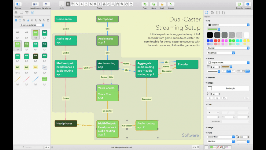 OmniGraffle for Mac - review, screenshots