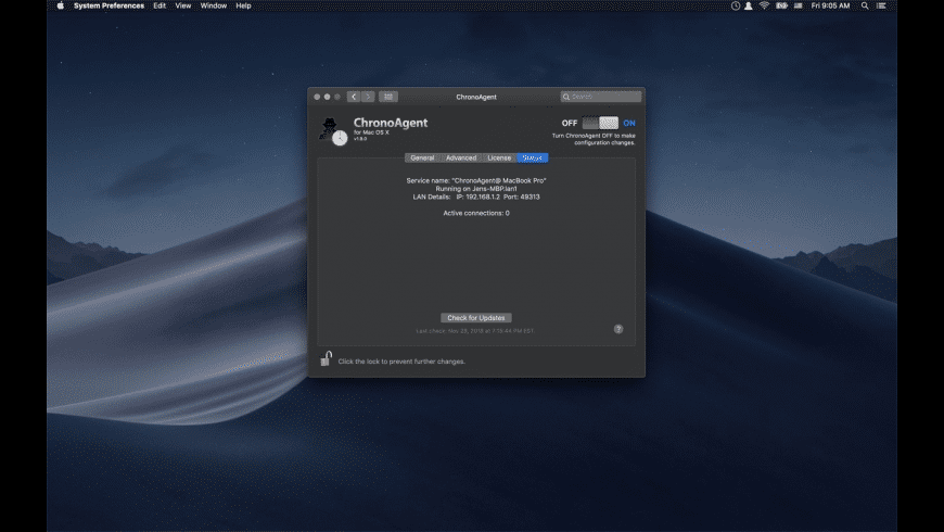 ChronoAgent for Mac - review, screenshots