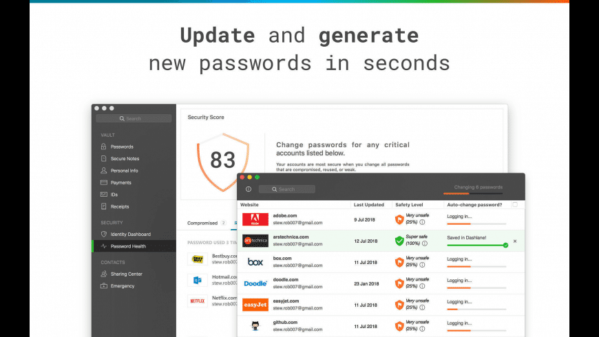 Dashlane for Mac - review, screenshots
