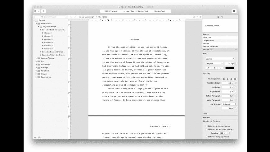 Storyist for Mac - review, screenshots