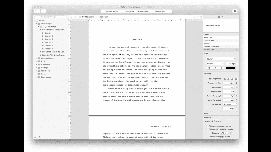 Storyist for Mac - review, screenshots