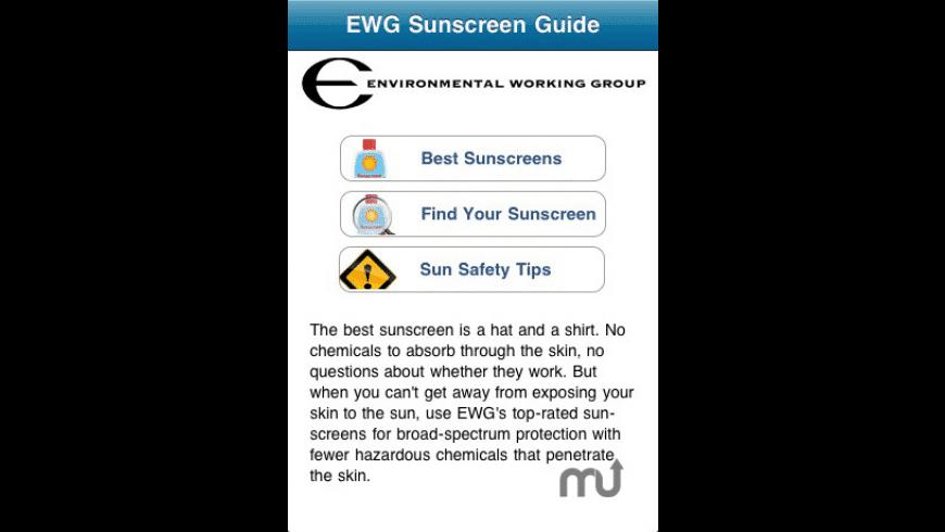 EWG Sunscreen Buyer\'s Guide for Mac - review, screenshots