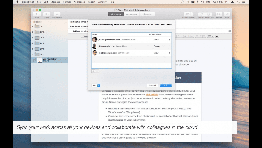 Direct Mail for Mac - review, screenshots