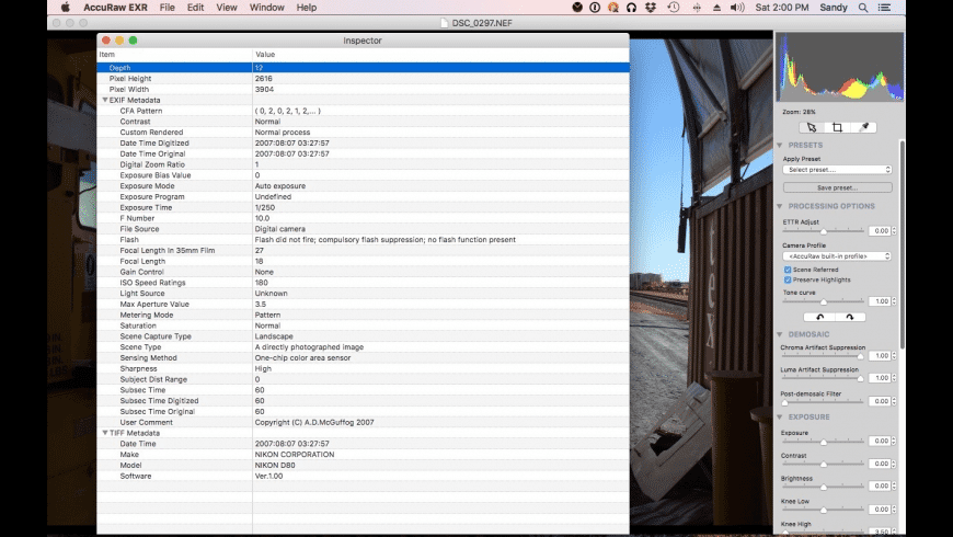 AccuRaw EXR for Mac - review, screenshots