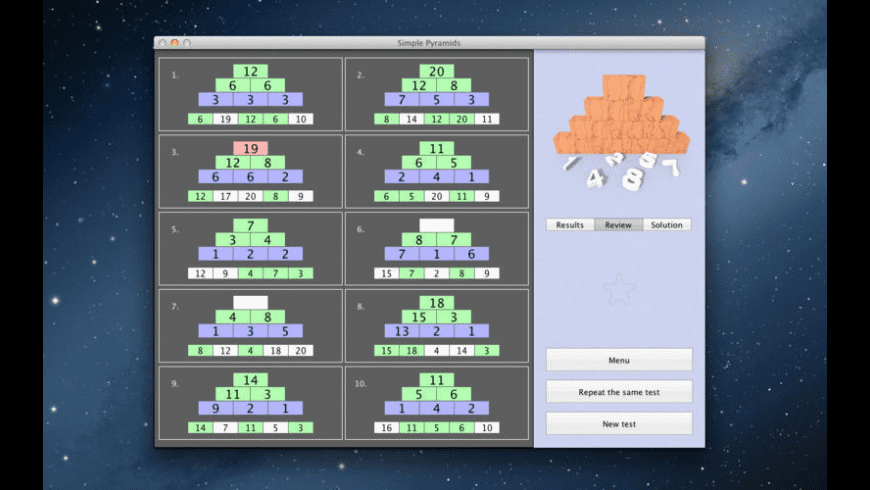 Simple Pyramids for Mac - review, screenshots
